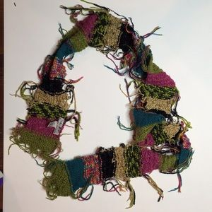 Steve Madden Knitted Colorful Scarf